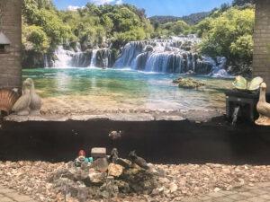 Krka waterval tuindoek
