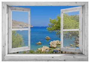 95x130 cm Openslaand wit venster: Kroatië