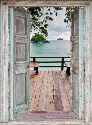 130x95 cm Openslaande deuren: vlonderterras