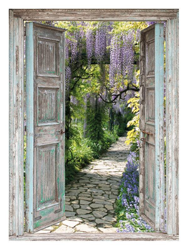 Openslaande deuren: blauwe regen