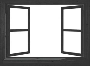 765-Eigen doorkijk open raam - zwart