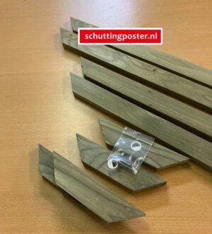 Onderdelen voor houten frame