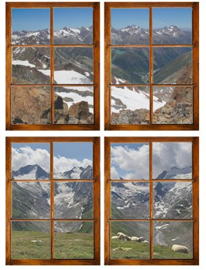 2 tuindoeken venster met eigen doorkijk h71 x b54 cm zonder afwerking