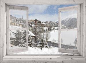 winter poster doorkijk St. Moritz