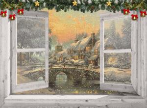 Winter poster - Victoriaanse brug