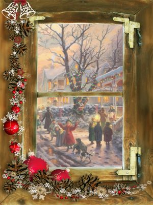 Kerst poster Victorian Street -l