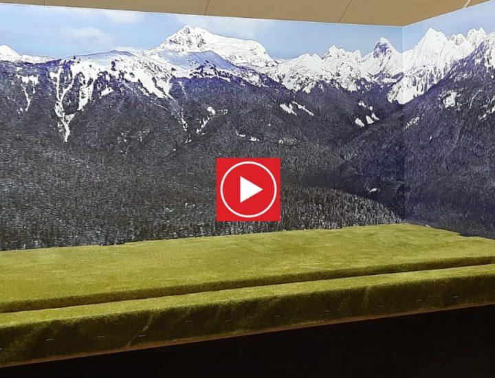 Kerstdorp met achterwand (video)