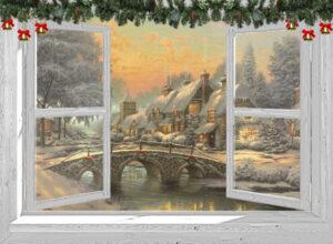 winter poster Victoriaanse brug