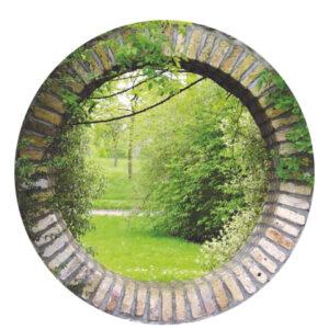 Tuinposter ROND  *190 - 8 ringen - met cementrand