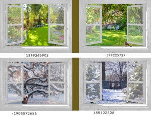 2 Tuinposters - 95x130 cm - wit venster - eigen foto's - mus - tunnels