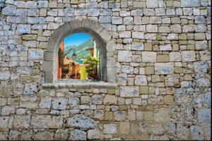 2 tuinposters 185x260 cm eigen foto